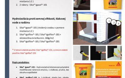 SIKA – Bitumenové systémy pre izoláciu spodnej stavby